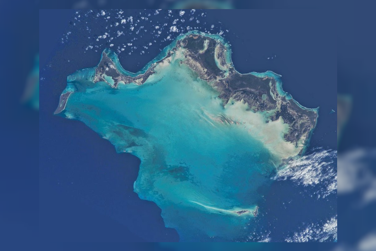 turks and caicos satellite view