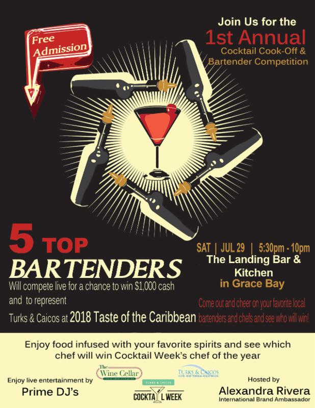 The Sands at Grce Bay Celebrates First Annual Turks and Caicos Cocktail Week and Cocktail Cook-Off and Bartender Competition