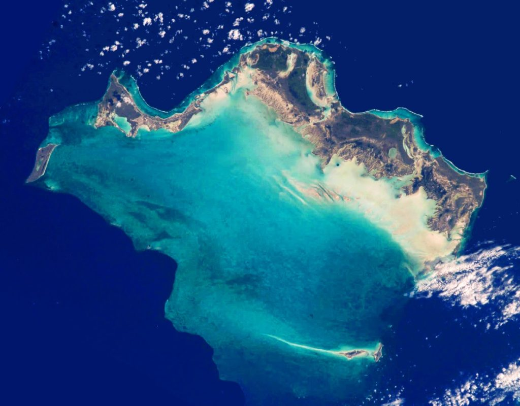 Caicos Islands by Satellite