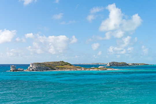 Long Cay as seen from South Caicos